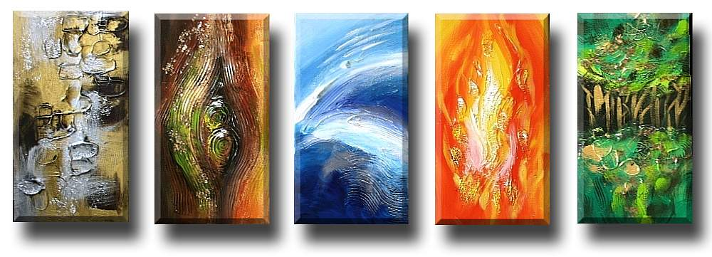 Five Elements Art : Art gallery of modern oriental abstract asian