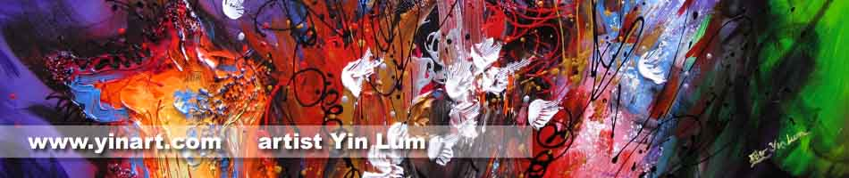 Contemporary Abstract Art by Yin Lum from